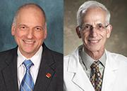 headshots of Dr. Garber and Dr. Grunberger